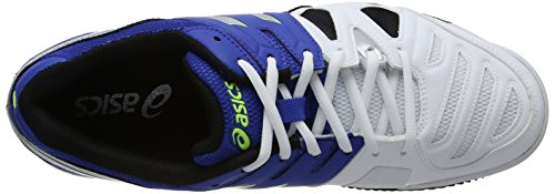 ASICS Gel-Game 5 Clay, Chaussures Multisport Outdoor Hommes Bleu (Blue/Silver/ Flash Yellow 4293)