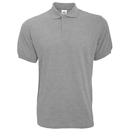 Farbe Trockner (kurzärmliges B&C Safran Herren Polo Shirt (3XL) (Grau) 3XL,Grau)