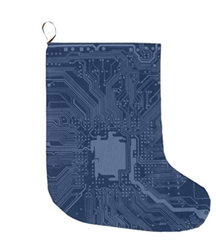 nboard Circuit Pattern Large Christmas Stocking 30,5 cm 2 Packungen ()