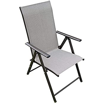 Songmics Outdoor Garden Chair Foldable With Padded Seat