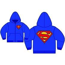 Superman Logo Royal Zip-Up Sudadera con capucha | M