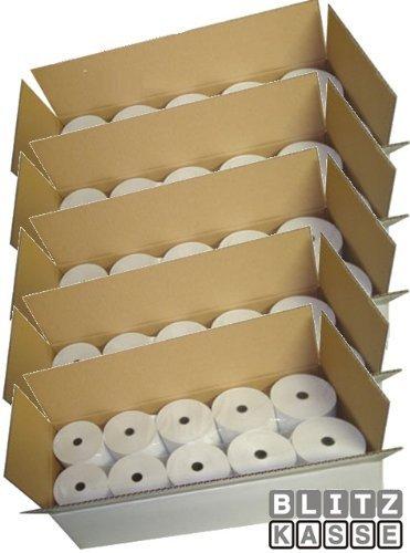 Thermopapier 80/80m/12, 50 Stück, 80mm, 80m lang, Bonrollen für Thermodrucker