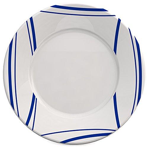 Ornamin assiette plate Ø 19 cm Roseau bleu mélamine (modèle 123)