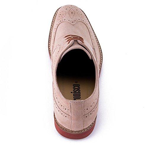 Masaltos - Chaussures rehaussantes pour homme. Jusqu'à 7 cm plus grand! Modèle Corby B Beige