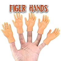 Ohwens Screepy Halloween Mini Finger Hands Tiny Left Right Hand for Game Party Costume