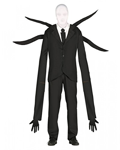 Horror-Shop Creepy Slenderman Kostüm mit Mütze L