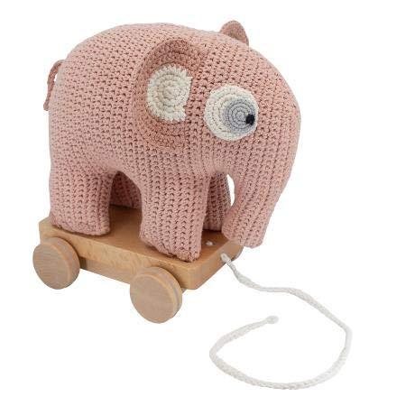 Sebra Fanto Der Elefant - Peluche de Ganchillo (algodón), Color Rosa