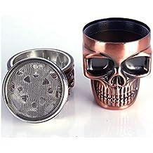 Aofocy Molino DE Hierbas King Skull, Molino DENTADO DE 3 Piezas Grinder