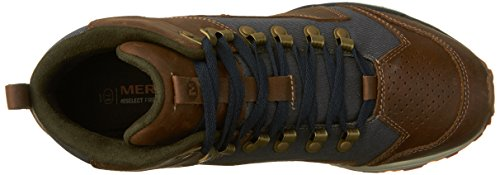 Merrell All Out Crusher Mid - Chaussures Homme - marron/bleu 2016 Marron/Gris