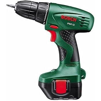 Bosch 0603955500 Perceuse-visseuse sans fil PSR 12 avec Coffret, 1 Batterie et Chargeur