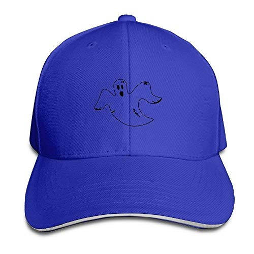 s Hats Funny Bag Halloween Flying Ghost Vintage Snapback Peaked Sandwich Baseball Caps Unisex ()