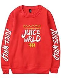 Unisexo Sudadera Manga Larga Cuello Redondo Juice Wrld Impreso Pulóver Sweatshirt Tops Camisetas Blusa de Primavera Otoño para Mujers y Hombres