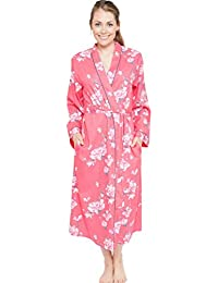 Cyberjammies Chloe Ladies Woven Long Sleeve Floral Print Long Robe ~ Dressing  Gown (4076) 6de56fbf3
