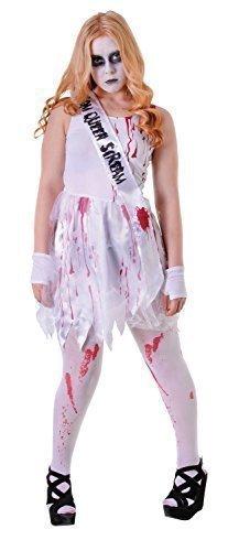 Prom Halloween Kostüm Queen - Fancy Me Mädchen Teenage Teen Blutig Prom Queen Zombie Horror Halloween Kostüm Kleid Outfit Einheitsgröße 12-16 Jahre - One Size