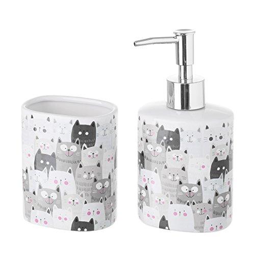 Set Bad Katzen Keramik Kätzchen - Bad Kätzchen