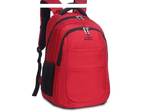 BULAGE Männer Und Frauen Umhängetasche Reiserucksack Bergsteigen Im Freienbeutel Wasserdicht Kursteilnehmerbeutel Laptoptasche 34 * 17 * 45 Red