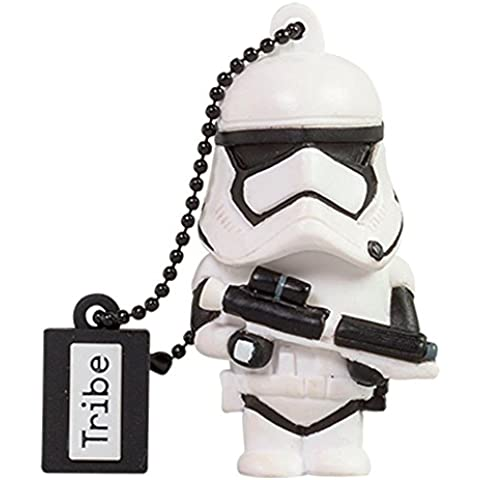 Tribe Disney Star Wars Pendrive - Memoria USB Flash Drive 2.0, de goma, 16 GB con llavero, diseño TFA