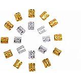 Mudder Dreadlocks Beads Anillos de Rastas de Aluminio Decoración de Pelo, 50 Piezas
