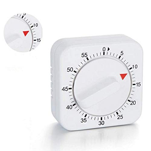 Fairylove Handbuch Küchenuhr 60 Minuten Zeitzählung Erinnerung Digital mechanisch Timer Uhr Minute Sekunden Countdown Keine Batterie Eieruhren