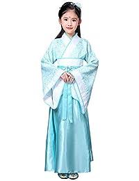 Yudesun Niñas Aristocrática Chino Hanfu - Antiguo Princesa Real Bata Vintage Día Actividades Vestido hasta Cosplay