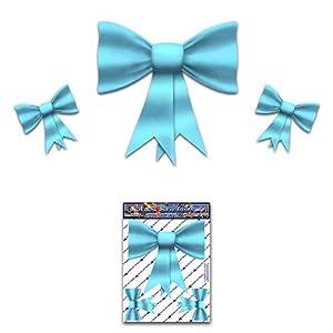 Bogen Krawatten Aqua Kleine Pack Mädchen Vinyl Auto Aufkleber - ST00027AQ_SML - JAS Aufkleber