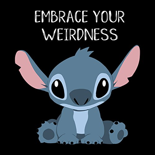 Embrace Your Weirdness Lilo And Stitch Women's Hooded Sweatshirt Black