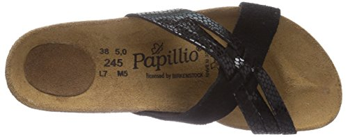 Papillio - Betty, Sandali Donna Nero (Schwarz (BLACK/BLACK GLITTER))