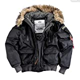 Alpha Industries Mountain Jacket Herren Winterjacke 30206 (XXL, black)