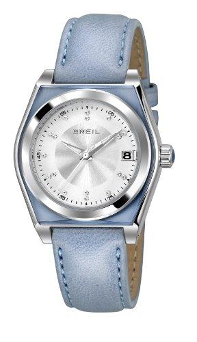 Breil orologio al quarzo con display analogico e cinturino in pelle blu...