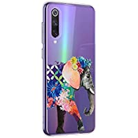 Oihxse Funda Xiaomi Mi 8, Ultra Delgado Transparente TPU Silicona Case Suave Claro Elegante Creativa Patrón Bumper Carcasa Anti-Arañazos Anti-Choque Protección Caso Cover (A12)