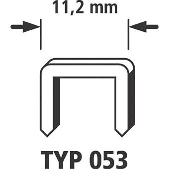 Wolfcraft 7037100 Agrafes larges acier trempé Type 053 10 mm Lot de 4000