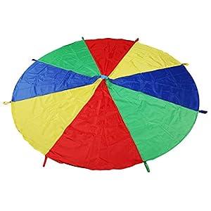 LEADSTAR Kinder Spielen Zelten Fallschirm mit 8 Griffen für Indoor Outdoor,...
