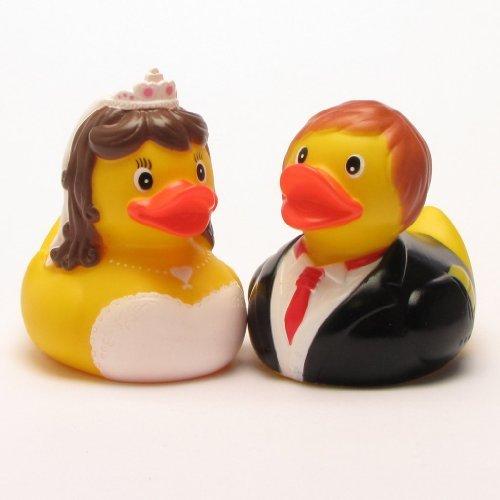 Badeenten Braut und Bräutigam - Hochzeit Geschenk - Berta und Berthold