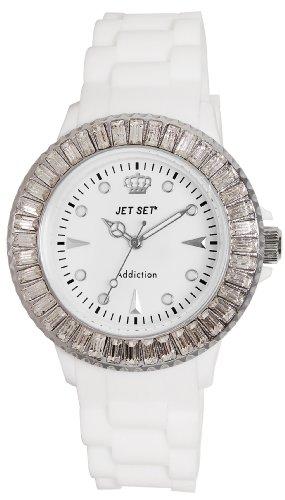 Jet Set–J10014-161Addiction–Ladies Watch–Analogue Quartz–White Dial White Rubber Strap