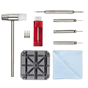 Uhrenwerkzeug Uhrmacherwerkzeug Stiftausdrücker Uhrenarmband Werkzeug – STAGO 11tlg Armband Reparatur Werkzeug Set