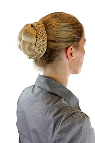 Haarteil aufwendig geflochten Zopf Dutt Haarknoten Tracht Blond Blondmix 24BT613 -