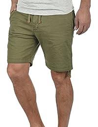 Redefined Rebel Malin Chino Pantalón Corto Bermuda Pantalones De Tela Para Hombre Con Cinturón De 100% algodón Regular-Fit 1BpnPr5xvG