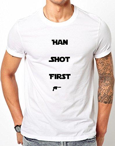 Han Shot First Tshirt Small