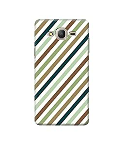Be Awara Stripe Designer Mobile Phone Case Back Cover For Samsung Galaxy J2 2015 Edition
