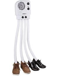oneConcept Choobidoo secador de calzado (350 W, capacidad para dos pares de zapatos, montaje pared, temporizador programable, inhibe la propagación de bacterias) - blanco