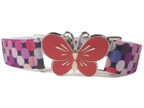 Girls-1-11-Years-Fully-Adjustable-Elasticated-Belt-with-Large-Buckle-Design