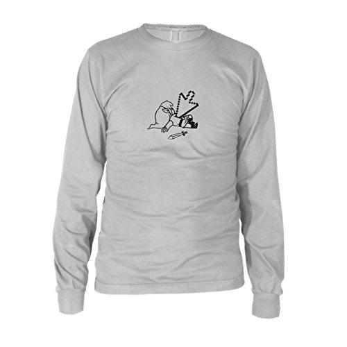 Dead Link - Herren Langarm T-Shirt Weiß