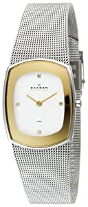 Skagen Ladies Watch 649SGSC with Silver Stainless Steel Bracelet and White Dial