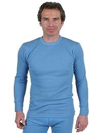 Sous-Vêtements Thermique (Maillot de Corps) Pour Homme Manches Longues Bleu Différentes Tailles