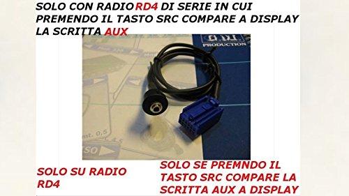 M/f Aktiv-adapter (G.M. Production - 225P - AUX IN Kabel für, Mp3, Mp4 und Apple iPod für alle Citroen und Peugeot Modelle mit RD4 Radio mit Aktiv AUX Display AUX Panel Version [Foto und Kompatibilitätsdetails prüfen].)