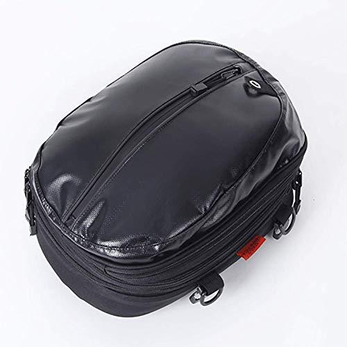 Multifunzionale Scalabile Impermeabile Panno Oxford Borsa da Moto, 22 Litri Sport Borsa da Sella Borsa per Sedile Posteriore Nero