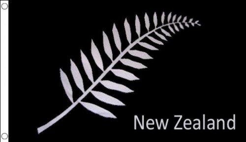 AZ FLAG Drapeau Nouvelle-Zélande fougères 250x150cm - Grand Drapeau Neo-zélandais - All Black 150 x 250 cm