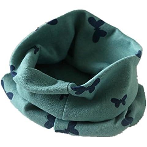 Sciarpa di cotone caldo autunno inverno per bambini , green