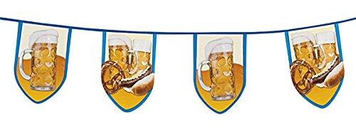 Boland 54251–Handspinnen Wimpelkette Oktoberfest,, blau/weiß