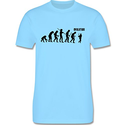 Evolution - Baseball Evolution - Herren Premium T-Shirt Hellblau
